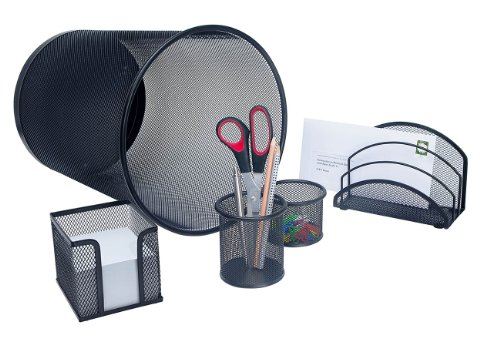 wedo-office-065101-set-de-bureau-complet-5-pieces-noir
