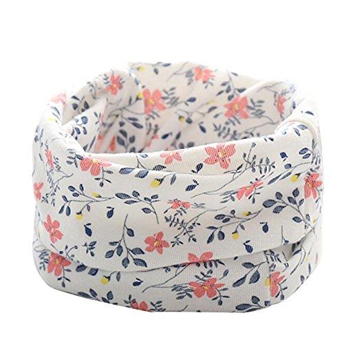 Soft Floral Schal (sunnymi Unisex Warmen Kinderschal Blätter Muster Mädchen Jungen Kleine Herbst Winter Loop Lässig Täglich Party Fotoshooting Geschenke (Bowknot Beige))
