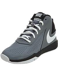 more photos 2a62a 2dd53 Nike Boy s Team Hustle D 7 Basketball Shoe (PS) Cool Grey White-