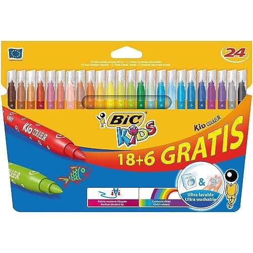 material escolar para la vuelta al cole BIC 841803 - Pack de 24 rotuladores, multicolor