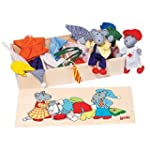 Goki Flexible Puppets Mouse Dress-Up Box