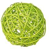 Geschenkidee Deko Ostern - Rattankugeln sortiert, 3 cm, 4 cm, 7 cm, 10 Stück, Dekokugeln Tischdekoration - Apfelgrün