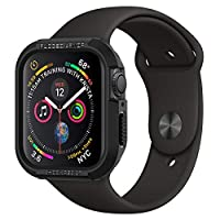 Spigen Rugged Armor designed for Apple Watch 44mm case/cover Series 5 / Series 4 - Black