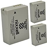 #10: ( 3 Pack ) Ultra High Capacity Nixxell Battery for Canon NB-10L CB-2LC for Canon PowerShot G1 X, PowerShot G15, PowerShot G16, PowerShot SX40 HS, PowerShot SX50 HS, PowerShot SX60 HS & Many More!