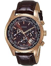 Guess HerrenArmbanduhr Chronograph Quarz Leder W0500G3
