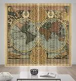 HONGYZCL 3D-Digitaldruckvorhang Der Nördlichen Und Südlichen Hemisphäre, Geeignet Für Schlafzimmer Im Wohnzimmer,264Cm(W)×160Cm(H)