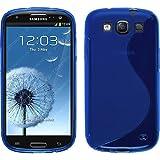 Funda de silicona para Samsung Galaxy S3 Neo - S-Style azul - Cover PhoneNatic Cubierta + protector de pantalla
