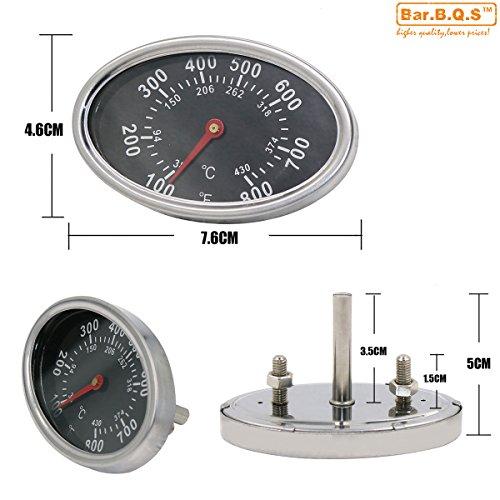 Bar.B.Q.S 01T14 7.6cm Temperaturregler Kochen Barbecue Barbecue Grill Ofen-Raucher-Grill New BBQ Smoker Templehre Thermometer - Bbq Smoker Thermometer
