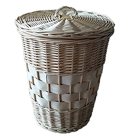 FYN® trash can band cover Rattan made Willow made Creative Garbage basket Round Pastoral Style Household Storage barrels S