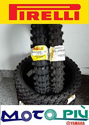 Par de ruedas Mini Cross Pit Bike Pirelli Scorpion, Mid Soft 60/100-14...