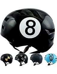 Skullcap® BMX Helm ☢ Skaterhelm ☢ Fahrradhelm ☢, Herren | Damen | Jungs & Kinderhelm, schwarz matt & glänzend