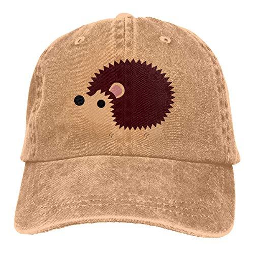 Unisex Erwachsene Vintage Washed Baseball Cap Verstellbarer Papa Hut - Igel Clipart schwarz