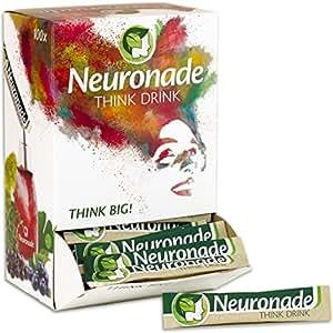 Neuronade® Getränk für Konzentration | Nervennahrung (Brain Food) mit wichtigen Vitaminen & 7 Heilpflanzen (u.a. Ginkgo, Brahmi, Rosenwurz) | koffeinfrei & vegan – 100x Think Drink