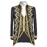 Traje de lujo para hombre, elegante chaqueta entallada, chaleco y pantalones Negro negro XXXXXL