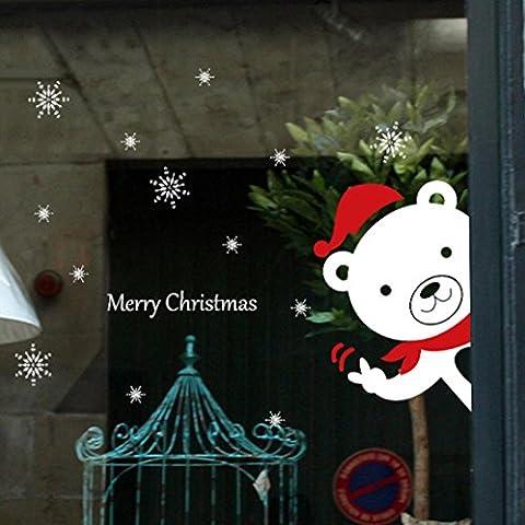 Christmas Snowman Stickers, Indexp Removable Vinyl Home Shop Decor Window