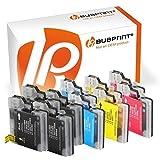 Bubprint 10 Druckerpatronen kompatibel für Brother LC-1100 LC-980 für DCP-145C DCP-195C DCP-375CW DCP-J715W MFC-490CW MFC-5890CN MFC-5490CN MFC-6490CW