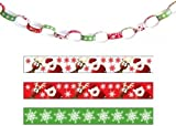 Christmas Paper Chains pk100, Printed Design 20 cms size