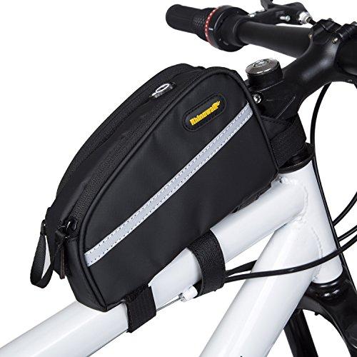 Selighting Fahrradtasche Fahrrad Oberrohrtasche Wasserdicht Rahmentasche für Mountainbike Rennrad (Schwarz)
