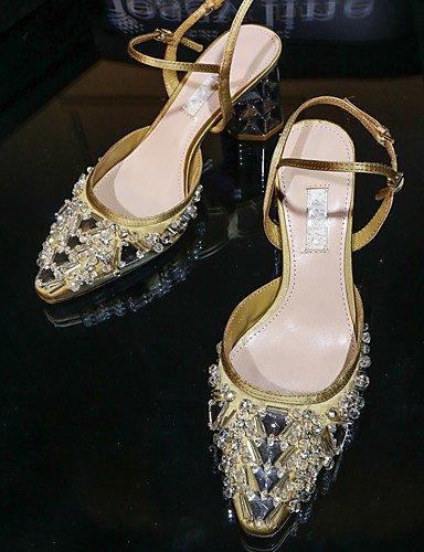 WSS 2016 Chaussures de mariage-Argent / Or / Fuchsia-Mariage / Habillé / Soirée & Evénement-Talons / A Bride Arrière / D'Orsay & Deux Pièces- 3in-3 3/4in-silver