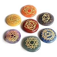 Reiki heilende Energie geladen Krystal Gifts UK Kristall Chakra Gravur Sanskrit Disc Set (Wunderschön als Geschenk... preisvergleich bei billige-tabletten.eu