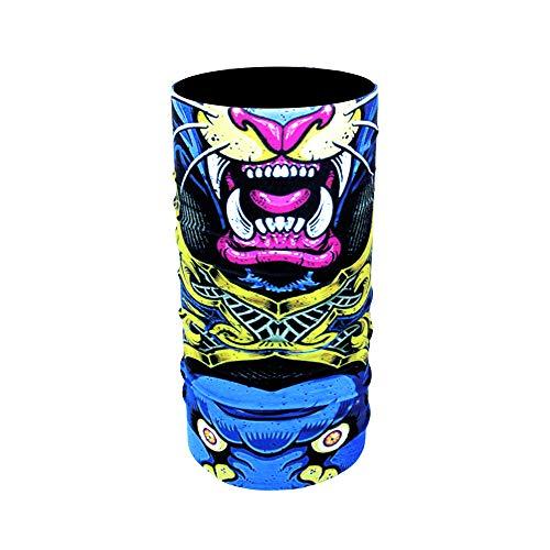 Zapro face shields - scaldacollo/protezione dal vento, traspirante, protezione solare elastica/+40 designs/biker uomo/donna, pesca, moto, sci, bicicletta, paintball fantasy lion taglia unica