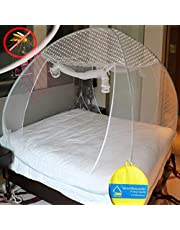 VERDIOZ WITH DEVICE Mosquito Net Foldable Double Bed King