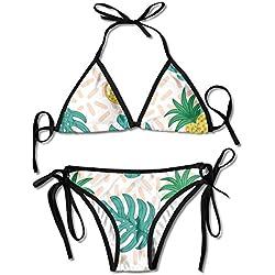 FDJKHY - Bikini personalizado para mujer, colorido, para verano, piñas, bañador