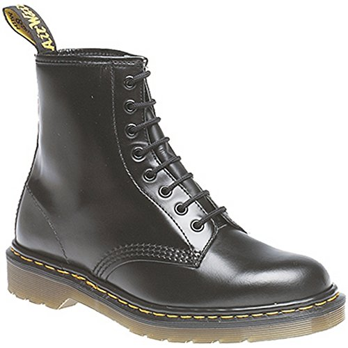 Dr. Martens 1460 Patent Acid Orange, Damen Booties, Schwarz - Schwarz - Größe: England Erwachsene 3 (Patent Leder-booties)