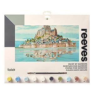 Reeves - Creatividad - Pintar por números - Grande, Mont St Michel