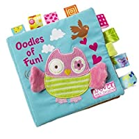 Owl Story Cloth Books, Baby's First Non-Toxic Fabric Soft Cloth Book Set Crinkle,Colorful,Squeak,Rattle Rustling Sound Activity Learning Toys for Toddler, Infants and Kids