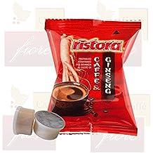 Cialde Capsule Ristora GINSENG Compatibili LAVAZZA Espresso Point - Confezione da 50 Capsule - Lavazza Espresso Point Capsula Macchina