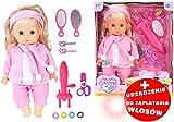Puppe mit Langen Haaren Zubehör zum Kämmen Locken