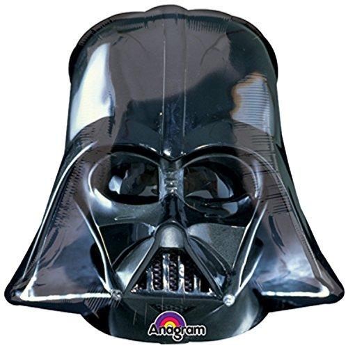 ienballon Ballon - Star Wars Maske Darth Vader - Deko Geburtstag - mit Helium gefüllt (Darth Vader Ballon)