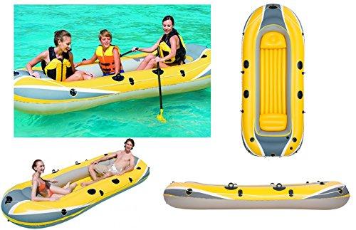 IZZY SPORT 3 Personen Schlauchboot Hydro Force Raft 3000 TÜV/GS Maße: 307 x 126 x 43 cm, 3 Kammern, Tragkraft 270 Kg Bestway
