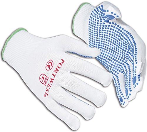 Portwest A110WBRMA Medium Nylon Gants à poids-Bleu/blanc (12 Paires)