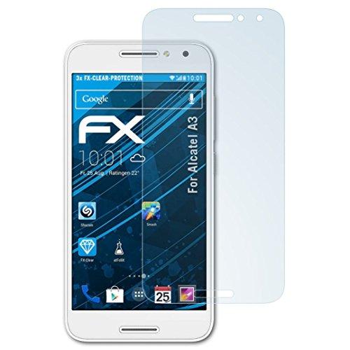 atFolix Schutzfolie kompatibel mit Alcatel A3 Folie, ultraklare FX Bildschirmschutzfolie (3X)