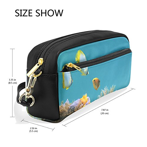Bleistift Fall Große Kapazität Halter Underwater Life Duster Wurm Colorful Schwämme Fisch Stift Stationery Tasche Tasche mit Reißverschluss Make-up