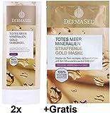 2x 150ml Dermasel Totes Meer Mineralien Pflegedusche Gold +Gratis 1x Straffende Gold Maske. Exquistier Duschgenuss mit Vitamin E, Algin und dem Mineralienkonzentrat DHB 400.