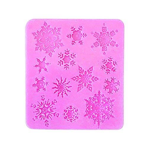 cosanter DIY Stampo Torta In Silicone Di Natale Fiocco di neve