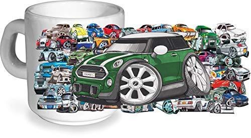 Koolart Stickerbomb Motiv mit Lizenzierte Neue Form MINI COOPER S Auto Bild Bedruckt Keramik 283g Kaffee- Teetasse - Neues Bild Mini
