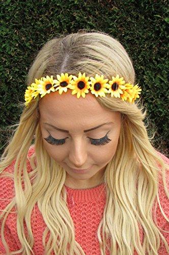 Starcrossed Beauty 1956 Haarband / Stirnband, Gelb / Orange, Sonnenblumen (Sonnenblumen-blütenblatt Stirnband)