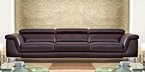 Grande divano angolare Olga, Tessuto Microfibra | Catalogo Divani Online