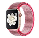 VODKER para Apple Watch Correa Bandas 38mm 42mm 40mm 44mm Nylon Correa de Reloj, Pulsera Nylon Loop de Reemplazo para Apple Watch Series 4 Series 3 Series 2 Series 1