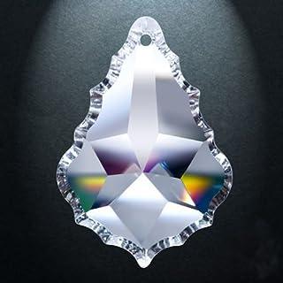 Asfour Crystal-911 pendeloque Kristall-Kronleuchter Prismen, 5-Zoll-, 1-Loch, Box von 9 Stück