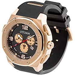 OTUMM Speed Men's Watch XL - 53 mm (Chronograph Rose Gold 02943) - Black