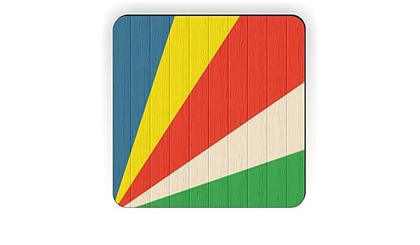 Kühlschrank Quadratisch : Amazon.de: rikki knight seychellen flagge auf distressed holz design