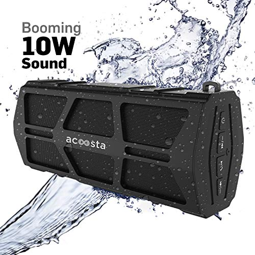 ACOOSTA Bold 550, IPX5 Waterproof, Portable Wireless Bluetooth Speaker (10 watt) with Loud Bass, Shockproof with Built in Mic, Aux & Upto 12hrs of Playtime (2500 mAh Battery)
