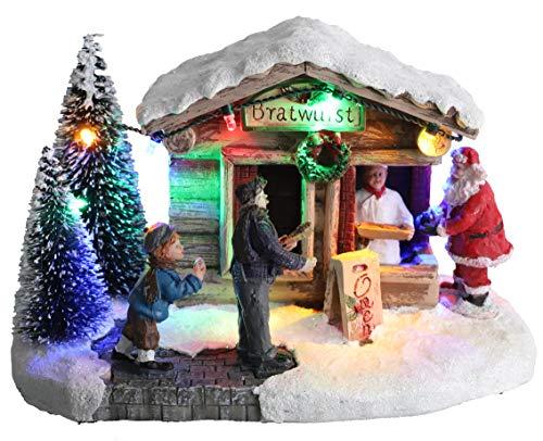 """Christmas Concepts® 938/5000 LED leuchtet im Weihnachtsdorf - 8\""""/ 20cm (Bratwurstladen)"""