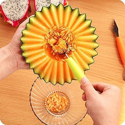 igemy Fruit Dig la balle en acier inoxydable cuillère de cuisine à découper Outil de coupe couteau Green