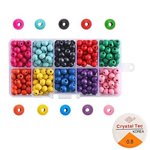 Cuentas y Abalorios Mini Cuentas de Cristal para los ni/ños Conjunto de Cuentas de Colores 3 mm Perlas de Vidrio cuentas para hacer pulseras Joyas de Bricolaje Collares Pulseras Regalo para ni/ños